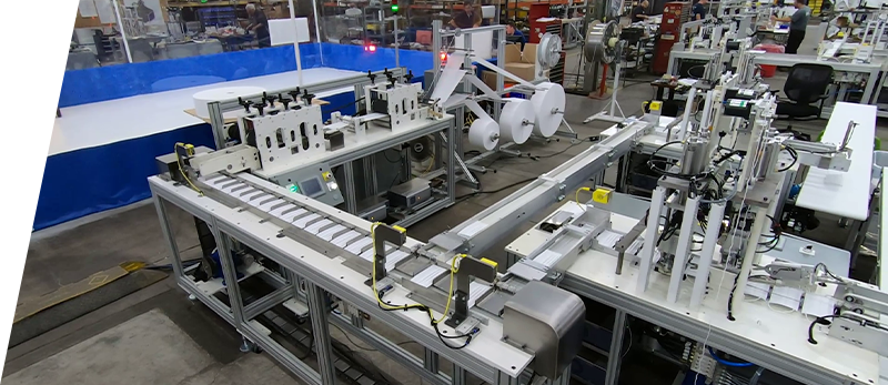 US facility producing three protective layers for face masks.